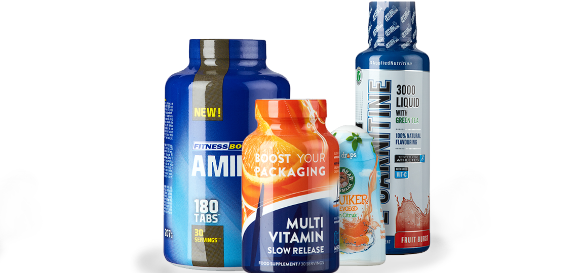 Shrink Sleeve Packaging - verpakking van vitamine- en voedingssupplementen