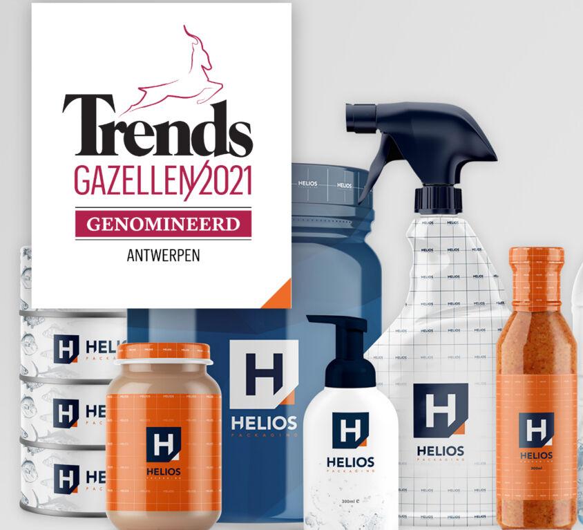 Helios genomineerd voor Trends Gazellen 2021
