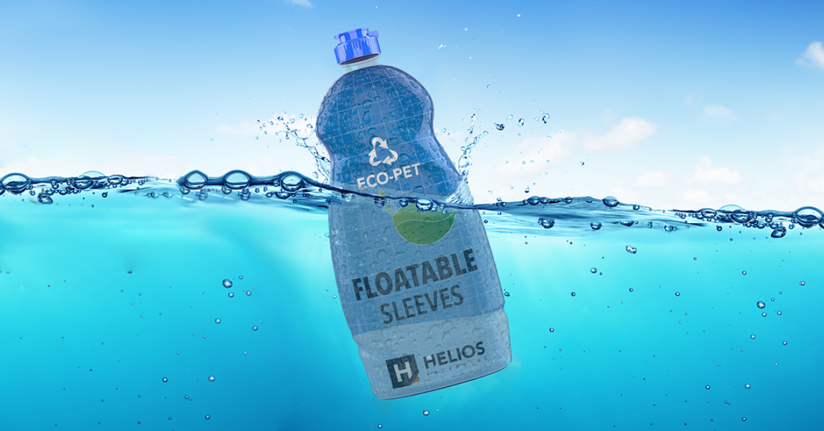 Drijvende floatable sleeve helios packaging